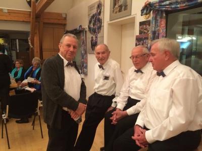 Manfred Ströbel, Fritz Jutz, Gustl Braun und Kurt Konle